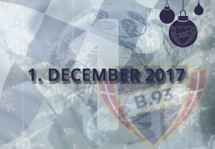 B.93 julekalender – 1. december 2017