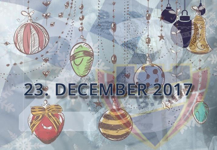 B.93 julekalender – 23. december 2017